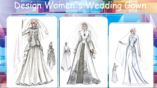 Design women 39 s wedding gown android apps on google play for Design your wedding dress app