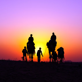 sunset @ Pushkar by Yaman Ibrahim - Landscapes Travel