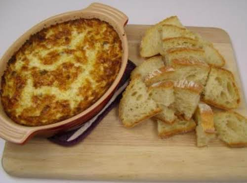 """Crab-Artichoke Dip """"I made this yesterday and it was awesome. My son..."""