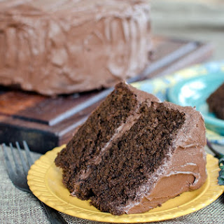 Chocolate Kale Cake with Fudge Frosting