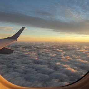 Peace by Pamela Howard - Novices Only Landscapes ( clouds, sky, plane, window, aircraft )