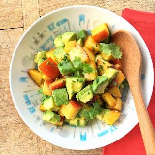 Peach and Avocado Sunshine Salad.
