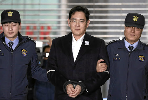 On trial: Samsung Group boss Lee Jae-yong arrives at the office of the independent counsel team in Seoul, South Korea, in February. Prosecutors have demanded a 12-year jail sentence for Lee, who faces more charges. Picture: REUTERS