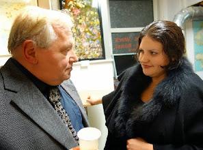Photo: Anton Cupak und Maryna Garasymchuk bei der Eröffnung  (26.September 2013). Foto: Peter Skorepa