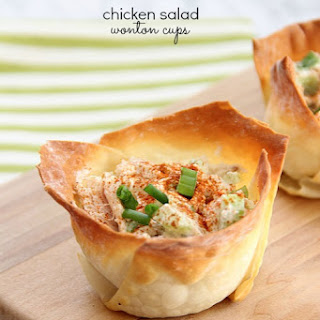 Chicken Salad Wonton Cups