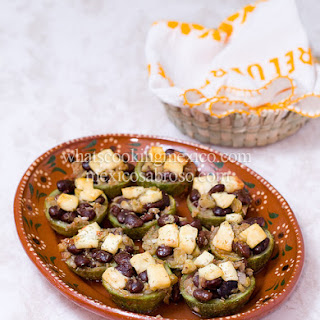 Bean Stuffed Zucchinis