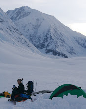 Photo: After 10 hard days we are 8 km from East Ridge of Mount Logan (at the back)