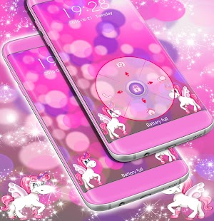 Cute Pink Unicorn Locker Theme - náhled