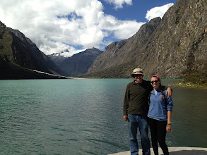 Photo: Llanganuco, the glacial lake beneath the highest peak in the Andes.