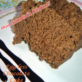 Egg-less Whole Wheat Chocolate Cake