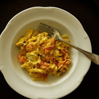 Smoked Salmon Scramble.