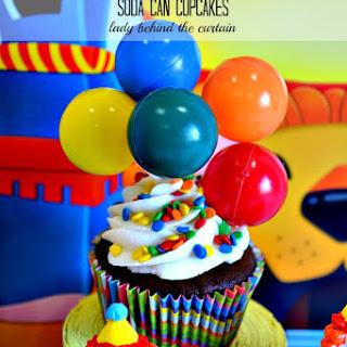 Carnival Cake Walk Soda Can Cupcakes