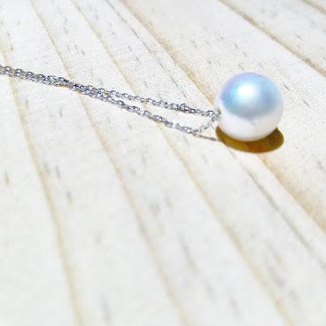 8-8.5mm日本Akoya珍珠配純銀頸鏈,Rainbow Lustre,完美無瑕,珠寶級