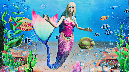 Mermaid Simulator 3D - Sea Animal Attack Games screenshots apkspray 3