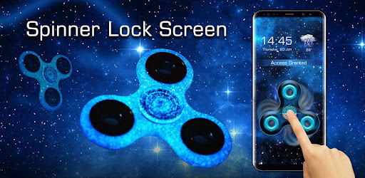 Fidget Spinner Fingerprint lock Screen Prank for PC
