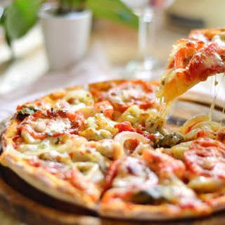 Kid-friendly Veggie Pizza.