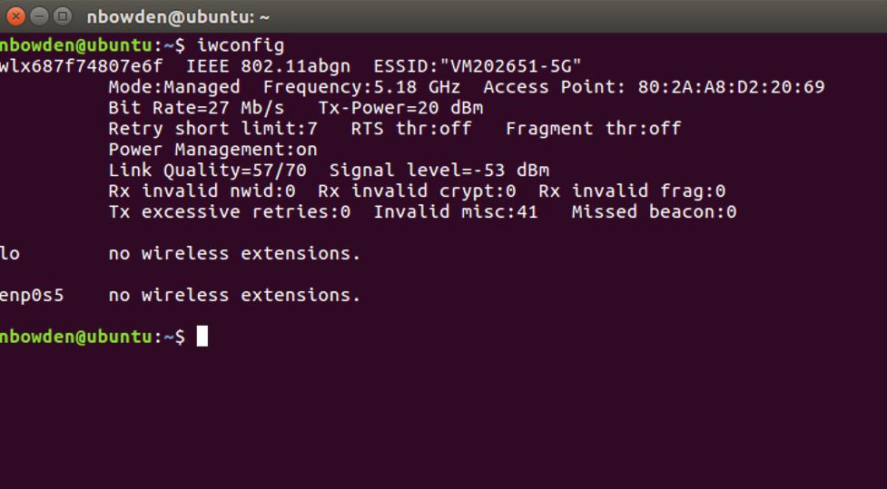 WifiNigel: Ubuntu Wi-Fi Client Information
