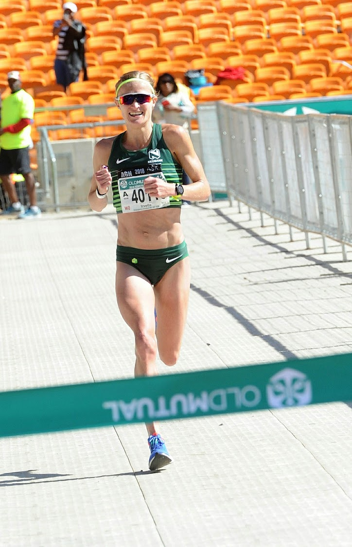 South African middle distance runner Irvette van Zyl smashed the Old Mutual Soweto Marathon record.