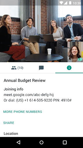 Google Meet screenshot 4