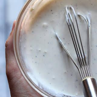Creamy Caesar Salad Dressing.