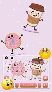 Coffee And Donut Keyboard Theme 4