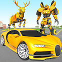 Deer Robot Car Game – Robot Transforming Games icon