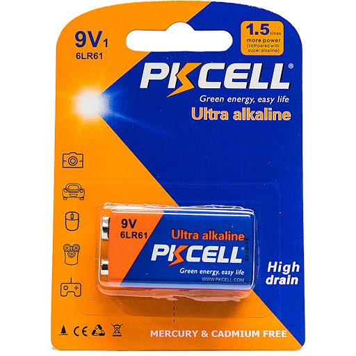 bateria pkcell ultra alcalina 9v