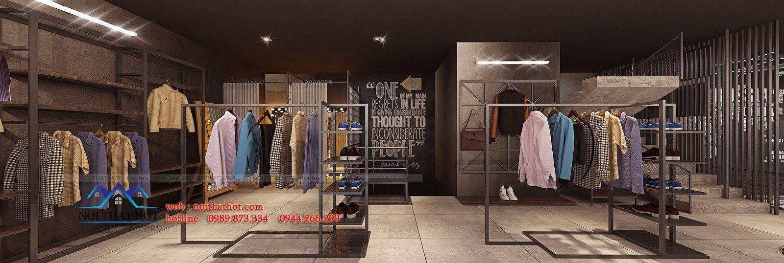 thiết kế shop thời trang nam H2T 15