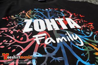 Photo: Tshirt personnalisés en transfert sérigraphique quadri : ZOHTA FAMILY