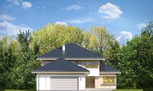 Dom z widokiem 3 F - Elewacja przednia