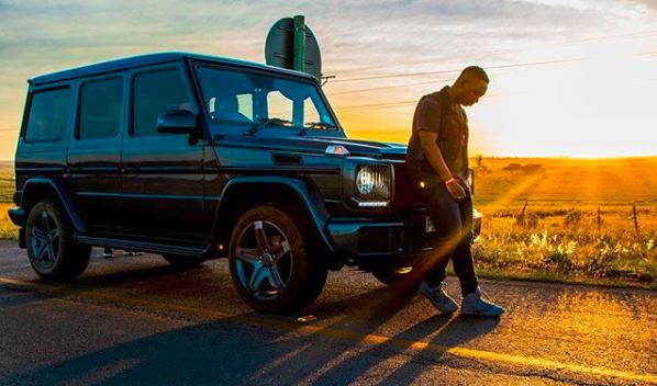 DJ Shimza and his ride, a G63 Merc.