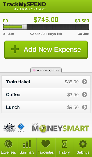 TrackMySPEND  screenshots 1