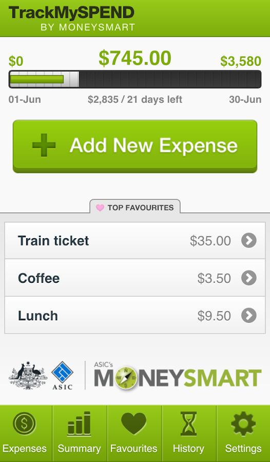 TrackMySPEND- screenshot