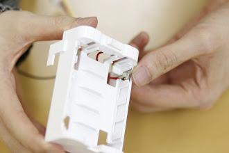 Photo: 電極を置くまで押し込んで下さい。