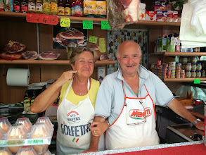 Photo: Lena and Enzo have been married for 41 years, working 6 days a week together in a stall that's 6 feet by 3 feet. People come from all over for their buffalo mozzarella and marriage advice.