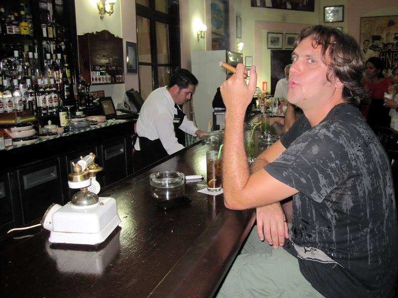 Photo: enjoying a cuba libre and cigar
