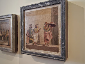 Photo: Mosaics from Pompeii in the archaeology museum
