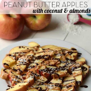 Dark Chocolate Peanut Butter Apples
