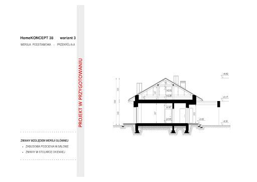 Koncept-38 - Przekrój - wariant 3 - koncepcja