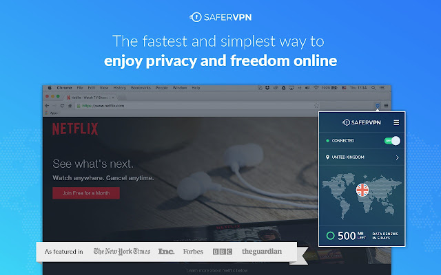 SaferVPN - FREE VPN | Privacy & Unblock Sites