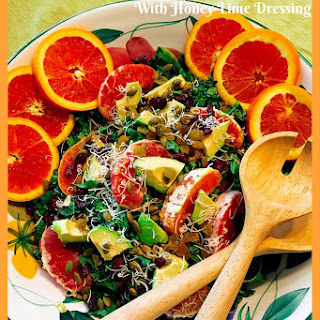 Citrus Kale Spring Salad w honey lime dressing