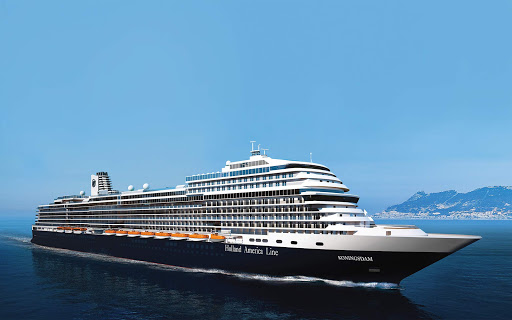 Koningsdam-at-sea-rendering - Holland America's Koningsdam carries 2,650 passengers on sailings around the Mediterranean and Caribbean.