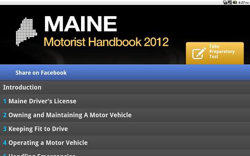 maine drivers license test handbook