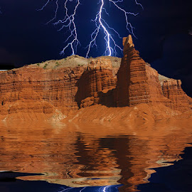 Storm at Capitol Reef by Gérard CHATENET - Digital Art Places