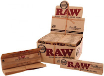 Raw Classic Connoisseur Slim and Tips Natural Unrefined Rolling Papers - King Size