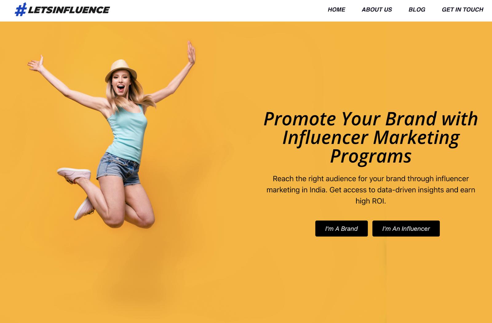 Let's Influence influencer marketing program