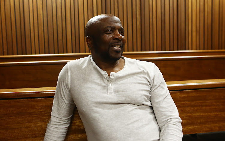 Chicco Twala at the Pretoria High Court were he is opposing Bongani Fassie from going ahead with a movie about the life of the late Brenda Fassie.
