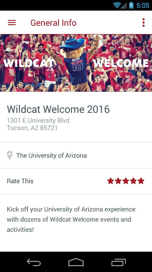 University of Arizona- screenshot