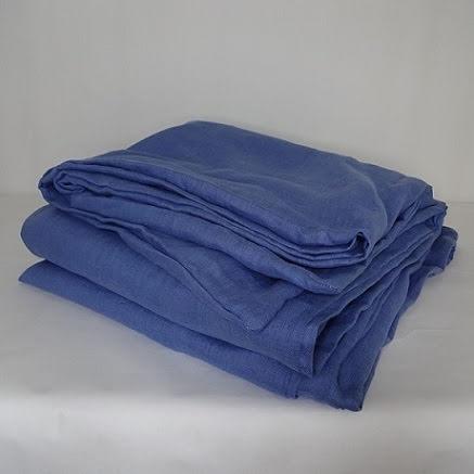 Ljusblått påslakan i linne