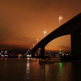 Itchen Bridge by Bradley Foot - Buildings & Architecture Bridges & Suspended Structures ( night, bridge, landmark, landscape, architecture,  )